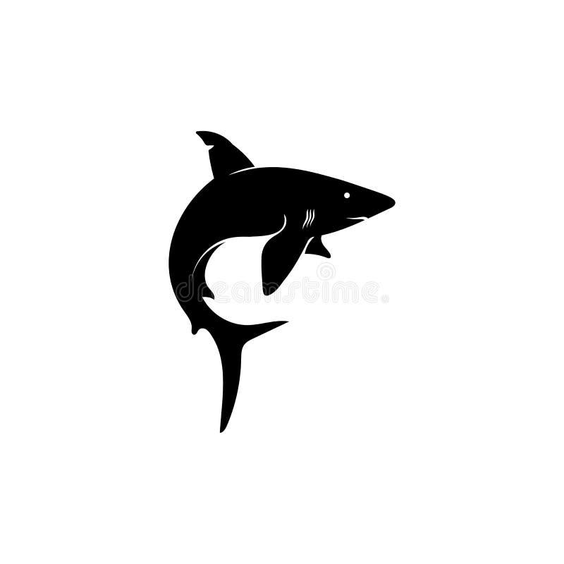 Haifisch Logo Template und wildes Tier der Entwurfsvektorfische See vektor abbildung