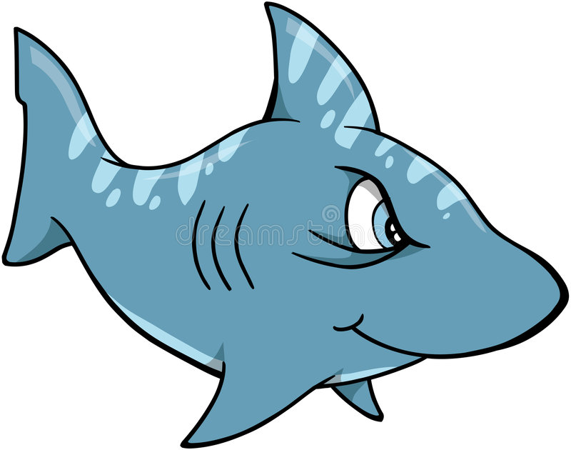 Haifisch-vektorabbildung vektor abbildung