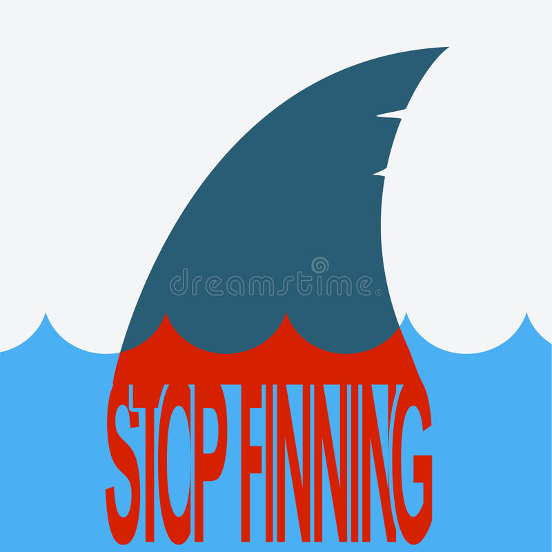 Haifischblutflosse Vektorsymbolillustration stock abbildung