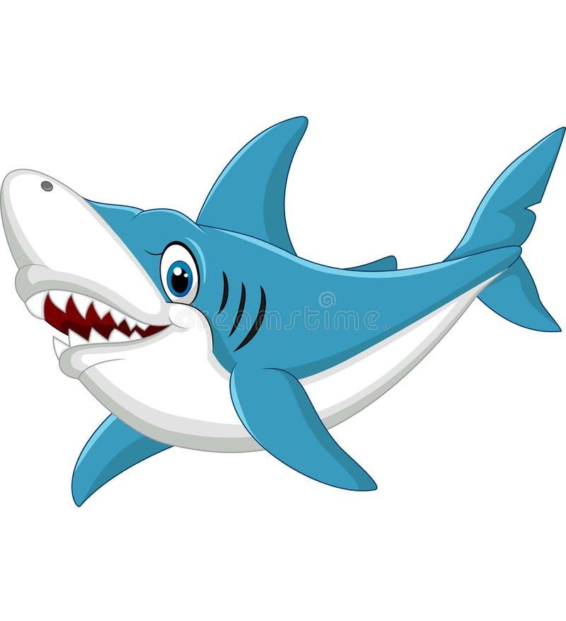 Haifischkarikaturillustration stock abbildung