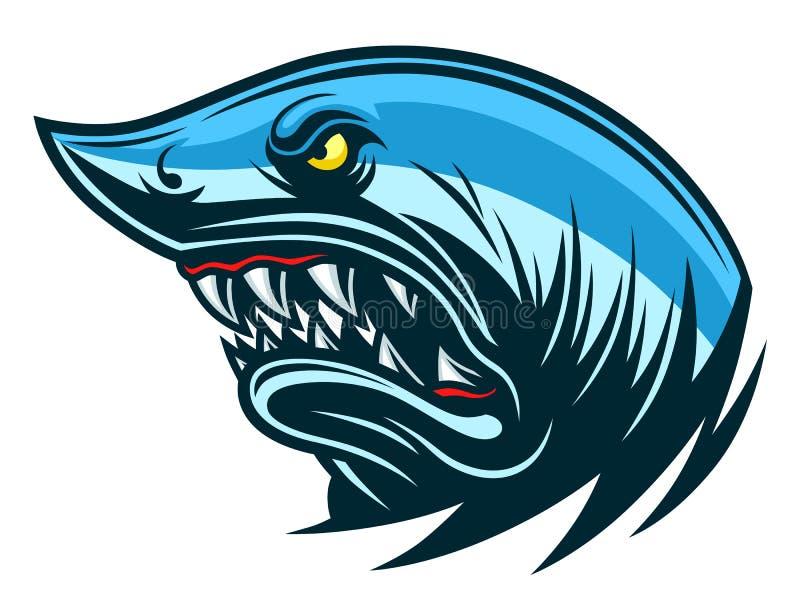 Haifischkopf lizenzfreie abbildung