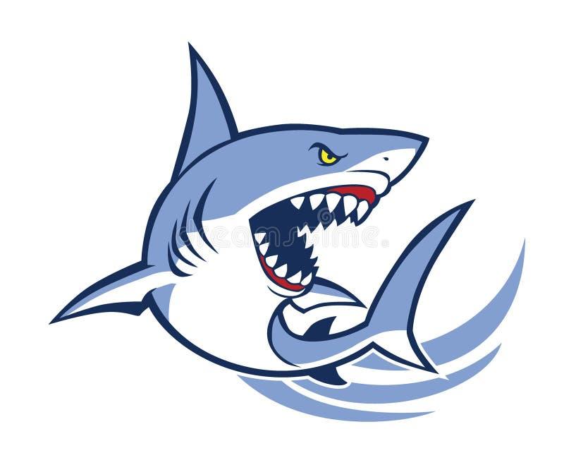 Haifischmaskottchen lizenzfreie abbildung