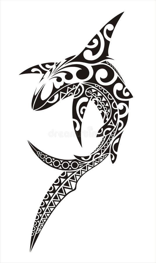 Haifischtätowierung lizenzfreie abbildung