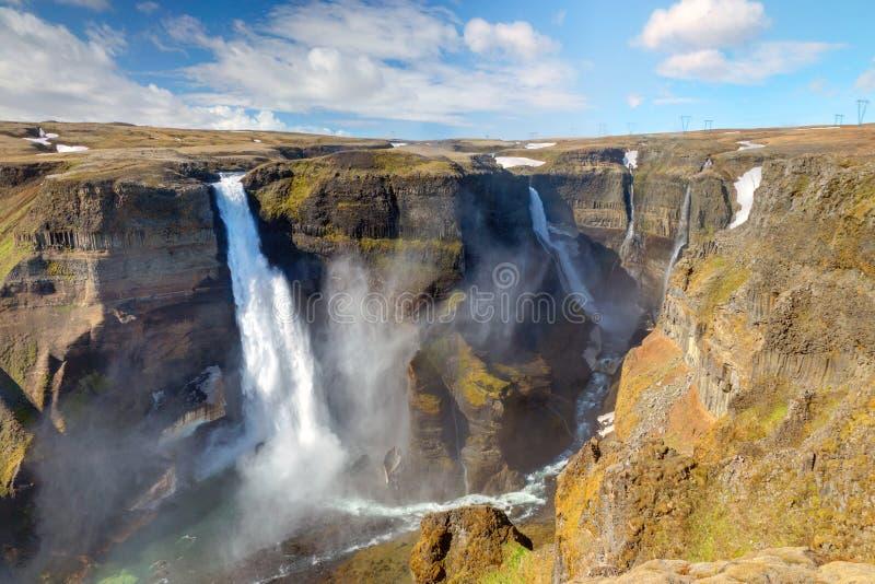 Haifoss et Grannifoss en Islande photos stock