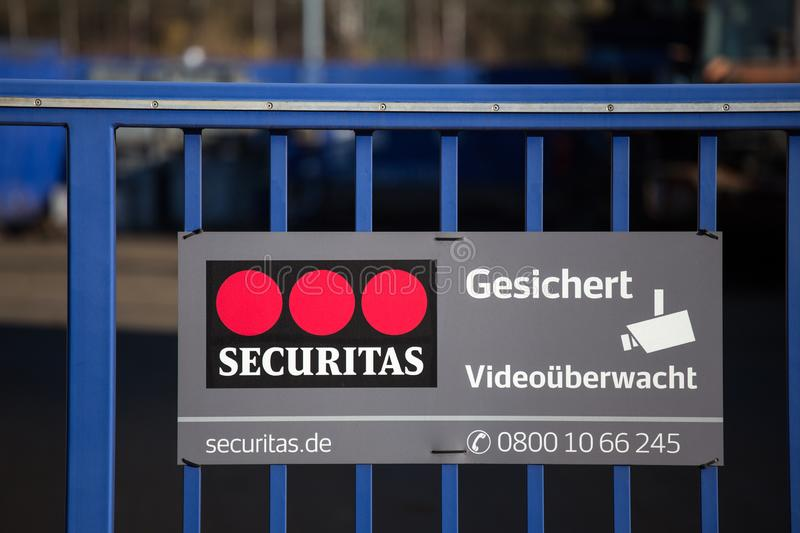Securitas sign in haiger germany royalty free stock photo