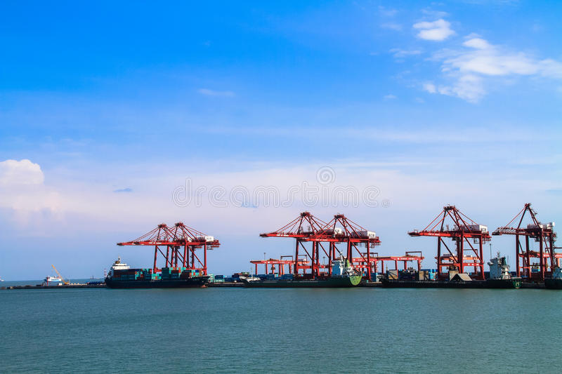 Haikou port, China. Haikou port is located in Haikou City of China, is engaged in the port loading and unloading, storage, water passenger and cargo transport stock photography