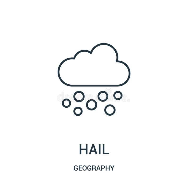 hail icon vector from geography collection. Thin line hail outline icon vector illustration royalty free illustration