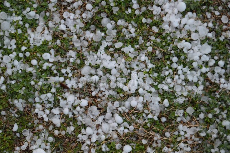 Hail Storm Aftermath royalty free stock photography