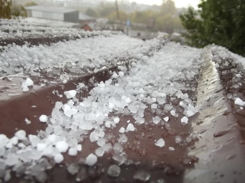 Hail stock photo