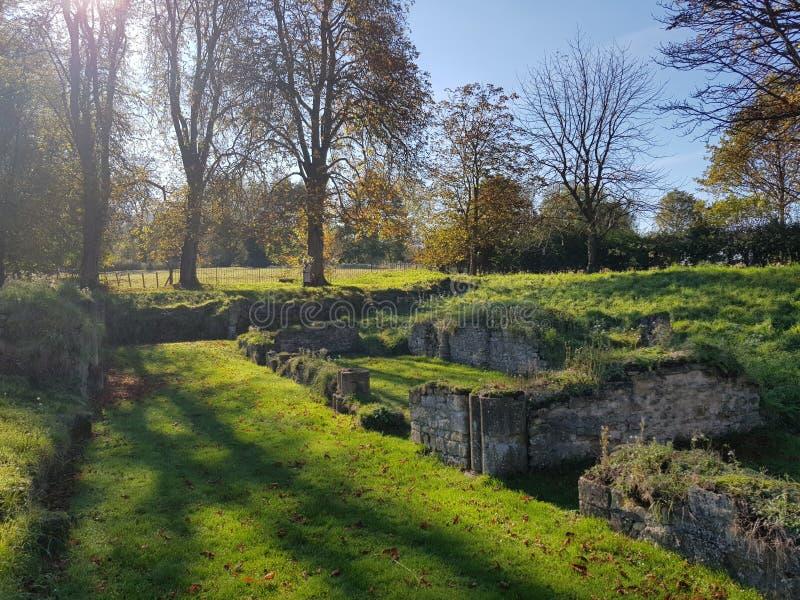 Hailes Abbey ruins stock photos
