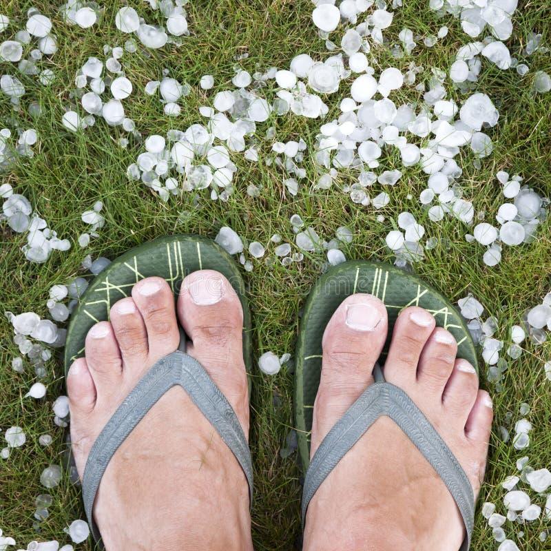 Hailstorm stock fotografie