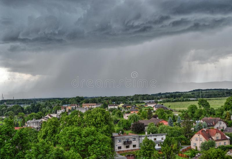 hailstorm fotografie stock