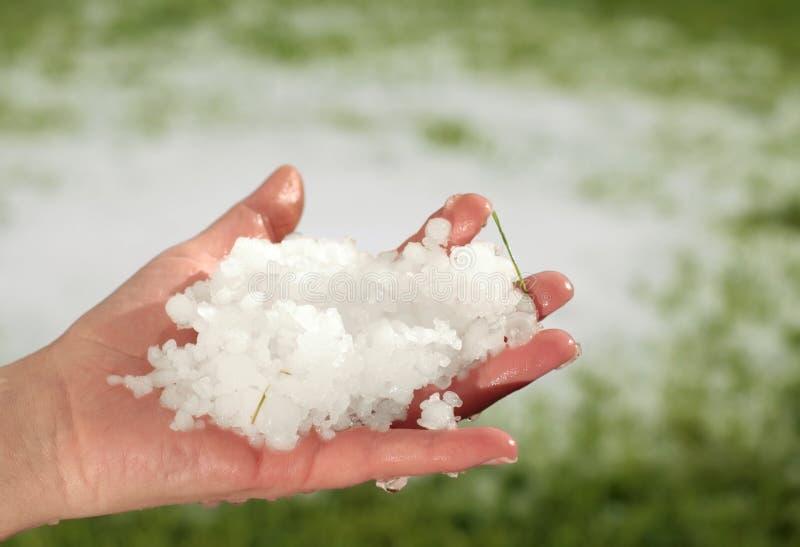 hailstorm стоковое изображение