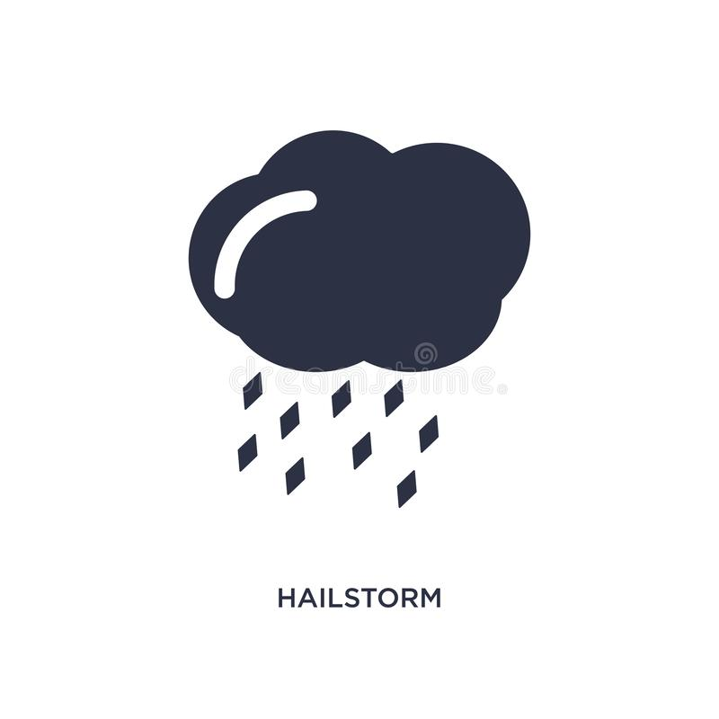 Hailstorm icon on white background. Simple element illustration from meteorology concept. Hailstorm icon. Simple element illustration from meteorology concept vector illustration