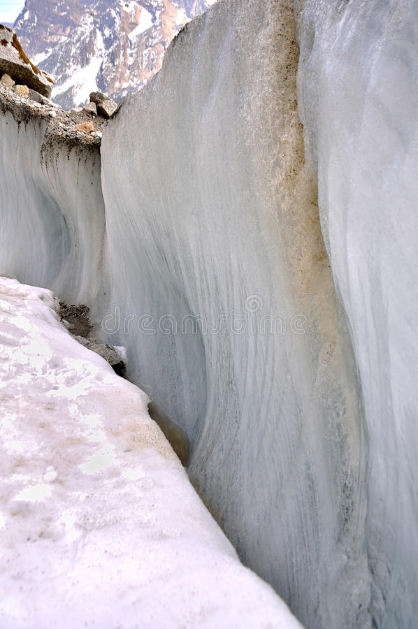 Hailuogou Glacier stock image