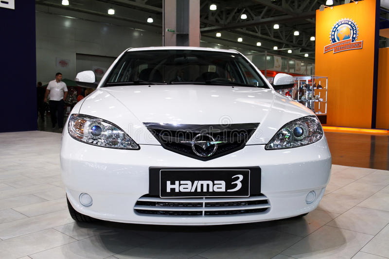Haima 3. MOSCOW - AUGUST 25: Haima 3 at the international exhibition of the auto and components industry, Interauto on August 25, 2011 in Moscow royalty free stock image