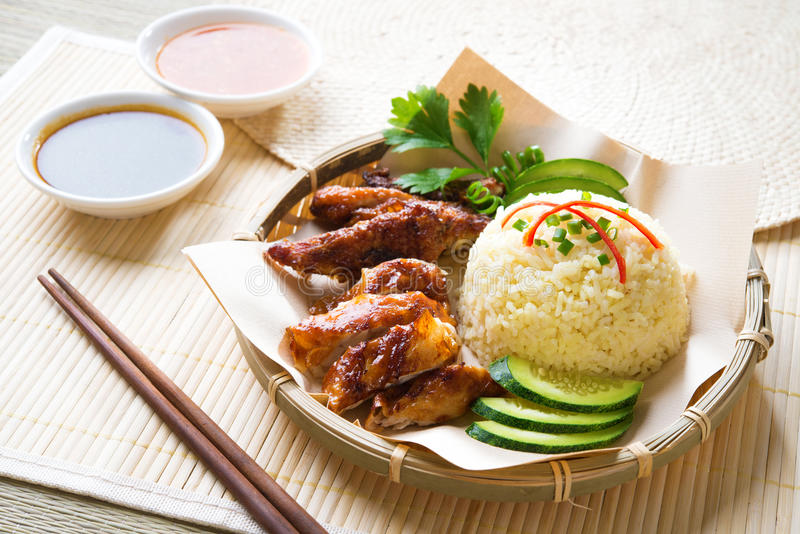 Download Hainan chicken rice stock photo. Image of greasy, fresh - 31987218