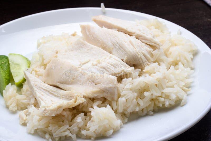 Hainan kurczak z oliwiącymi ryż zdjęcie royalty free