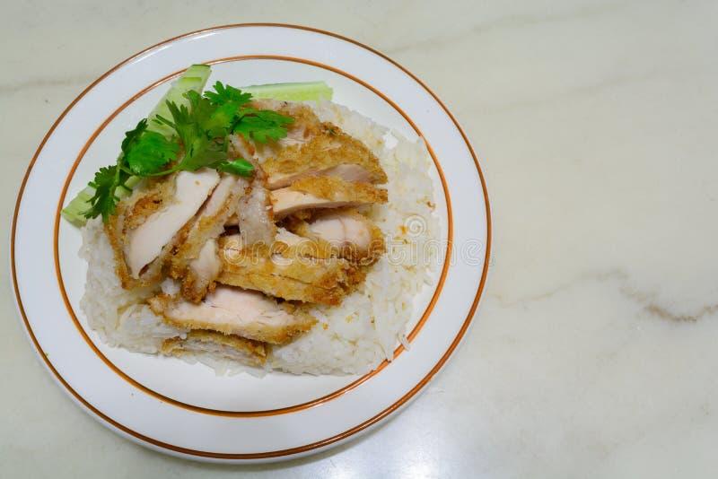 Hainanese鸡炒饭 库存图片