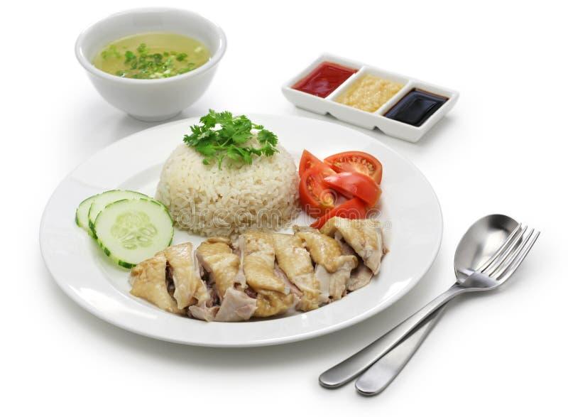 hainanese kurczaków ryż zdjęcie royalty free