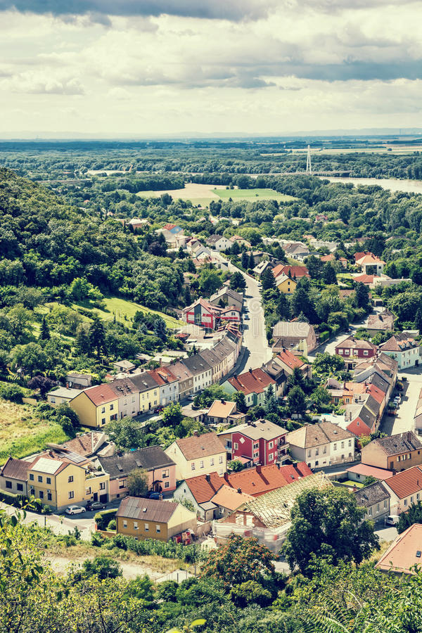 Free Hainburg An Der Donau, Forests And Danube River From Schlossberg, Retro Photo Filter Stock Photos - 79246253