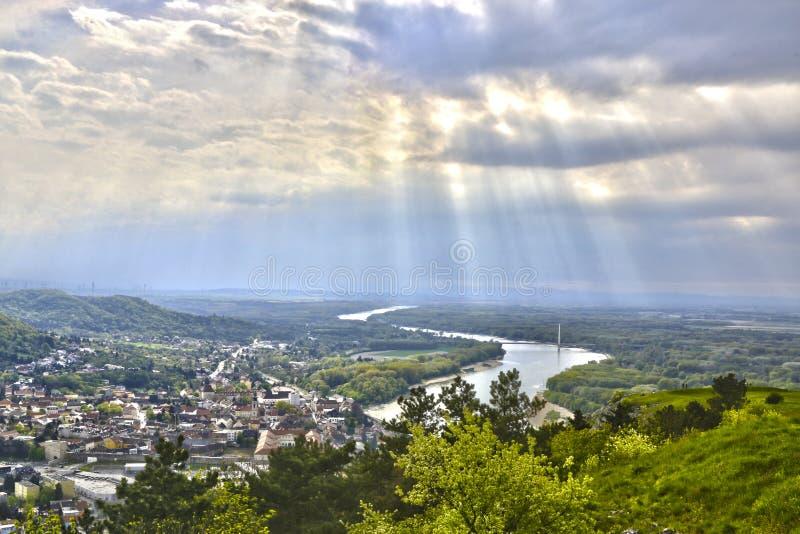 Hainburg een der Donau stock afbeelding
