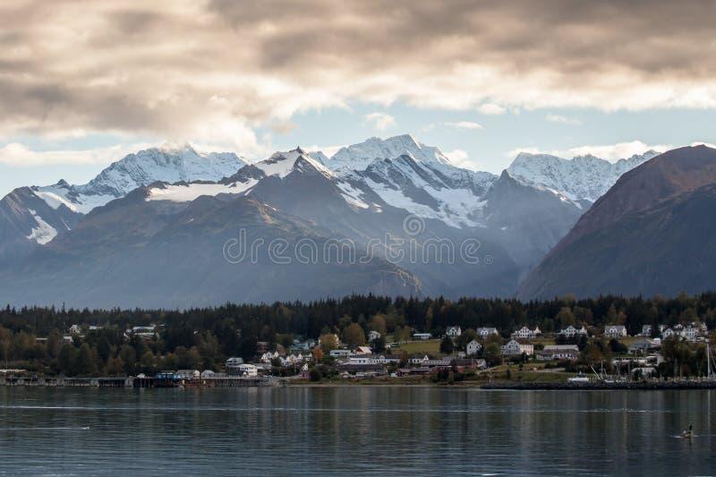 Haines Alaska com nuvens de tempestade foto de stock