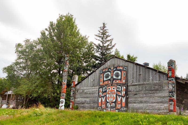 Tribal House in Haines, Alaska. stock photos
