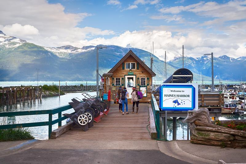 Haines Harbor nell'Alaska immagini stock