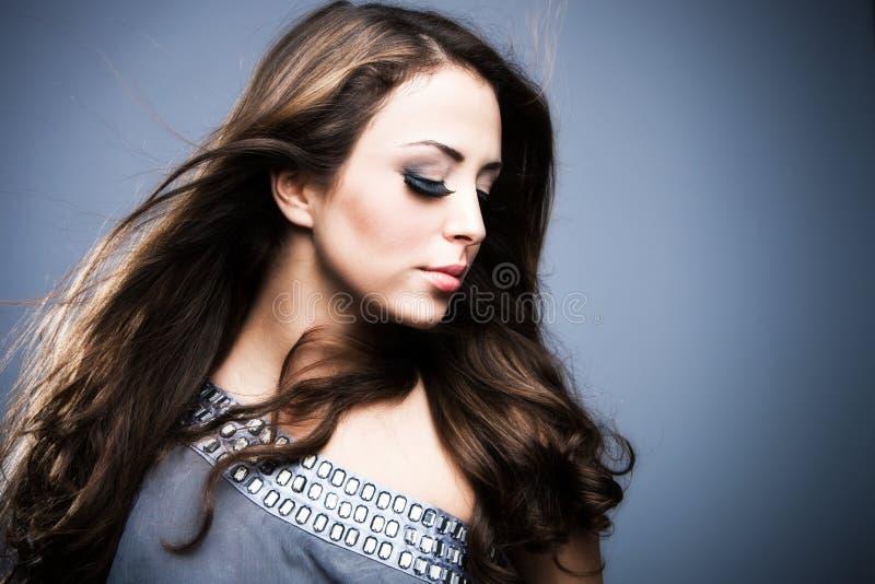 Download Hair stock image. Image of eyes, silky, make, long, eyelashes - 18737961