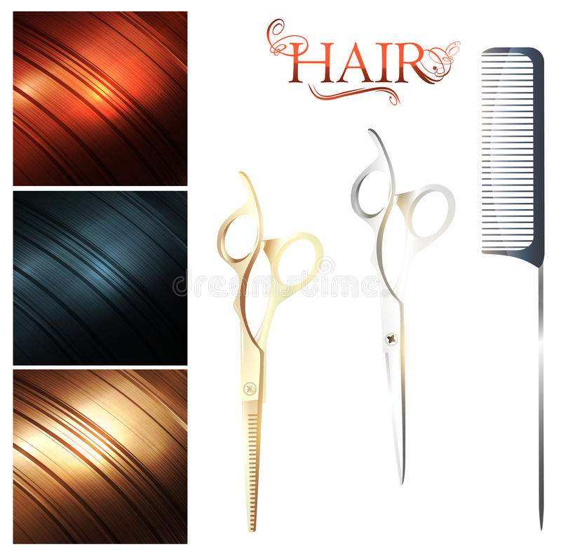 Download Hair stock vector. Image of comb, beauty, hair, cutting - 24252182