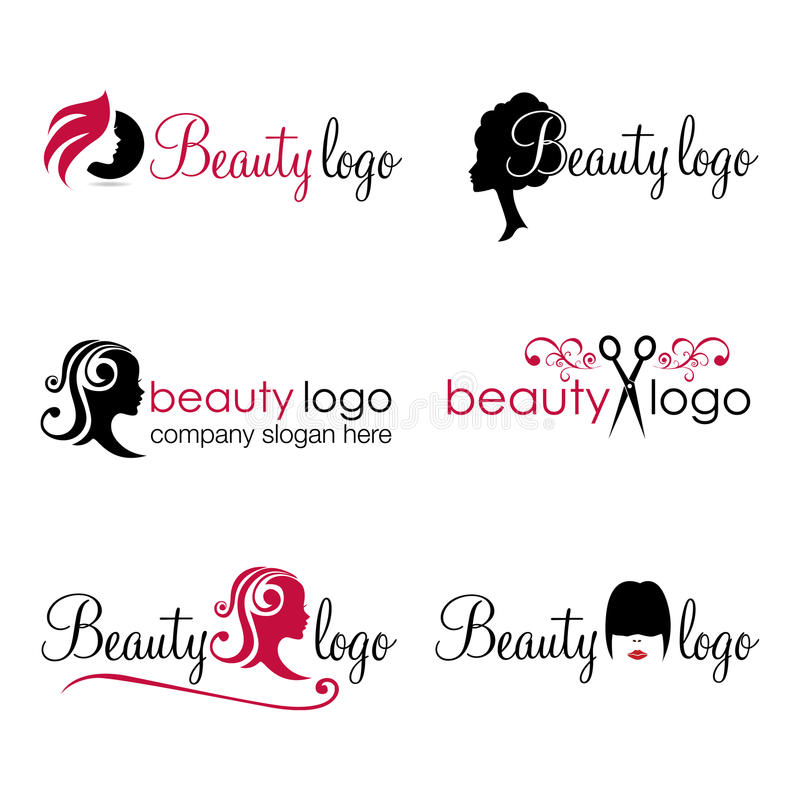 Hair and Beauty logos (vector) stock illustration