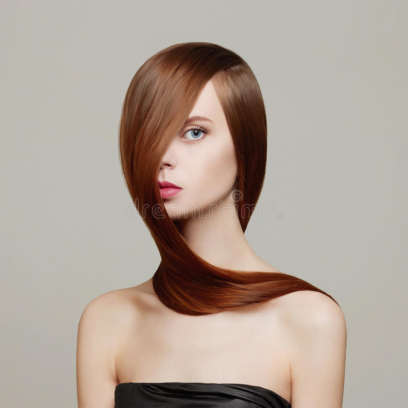 Hair. Beauty Woman royalty free stock photography