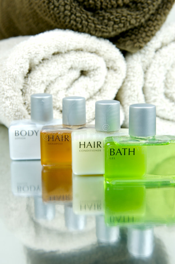 Hair And Body Products royalty free stock image