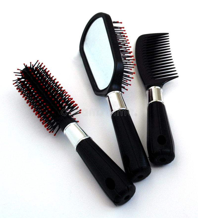 Hair brush royalty free stock photos