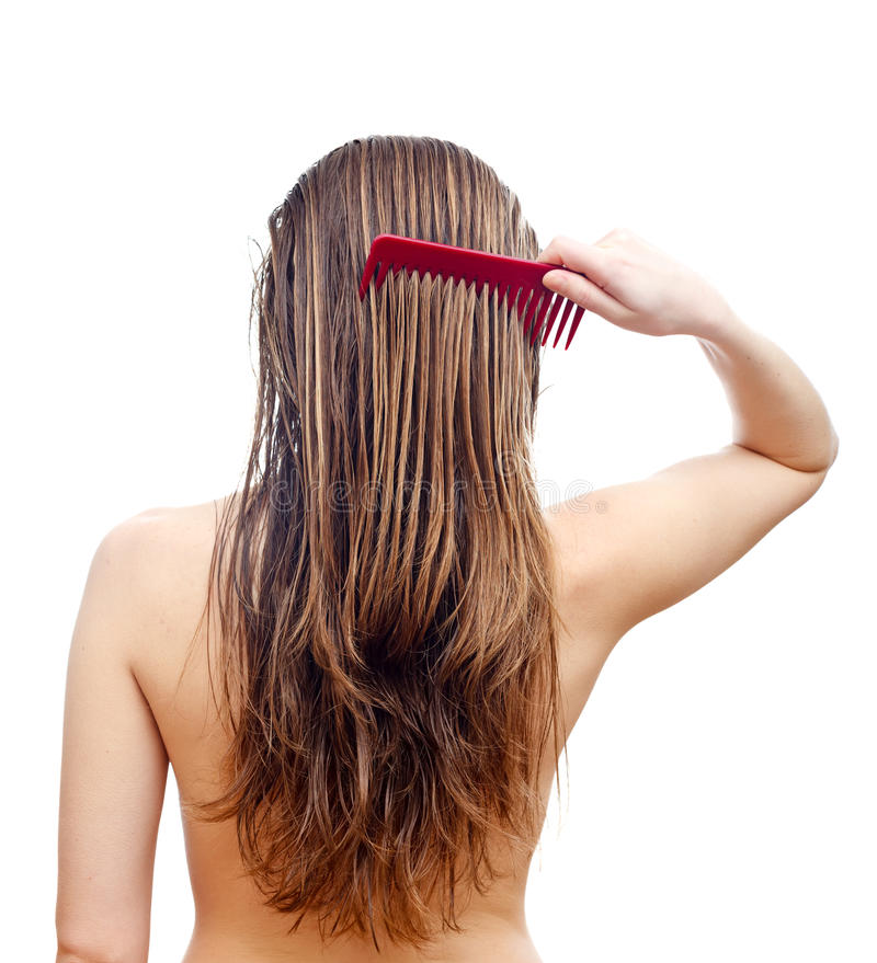 Hair care stock photo