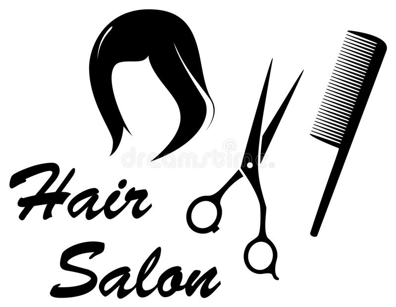 Hair care icon with woman head royalty free illustration