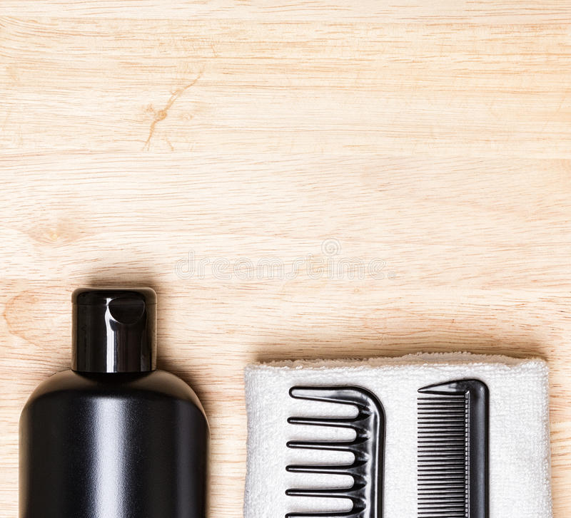 Hair care and styling background stock image