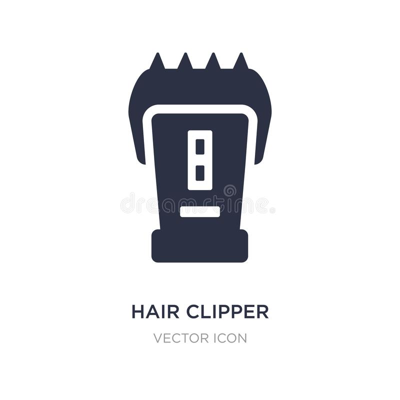 hair clipper icon on white background. Simple element illustration from Beauty concept royalty free illustration