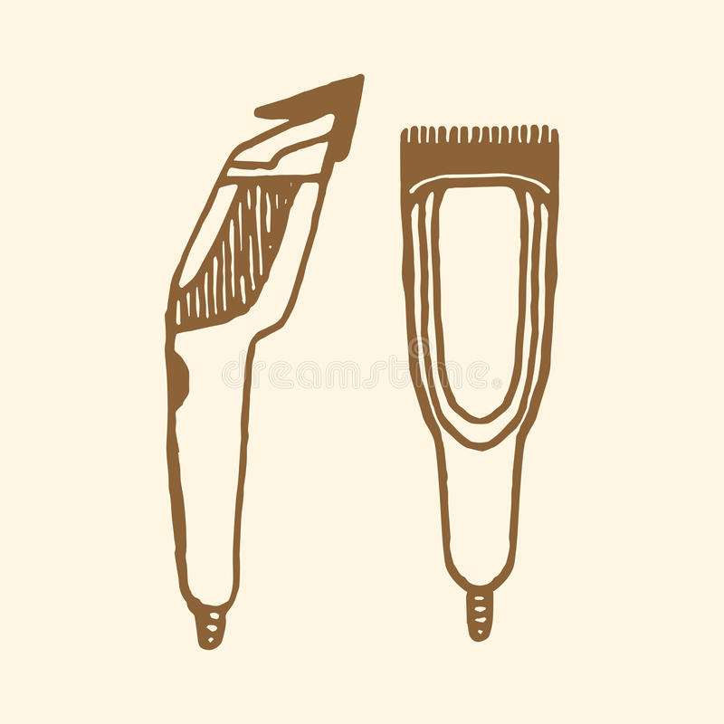Hair Clippers Implements Stock Vector - Image: 62000279