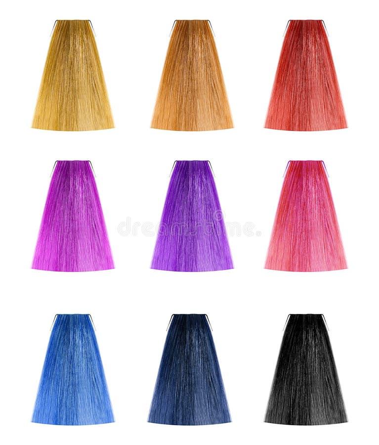 Hair color set stock photo