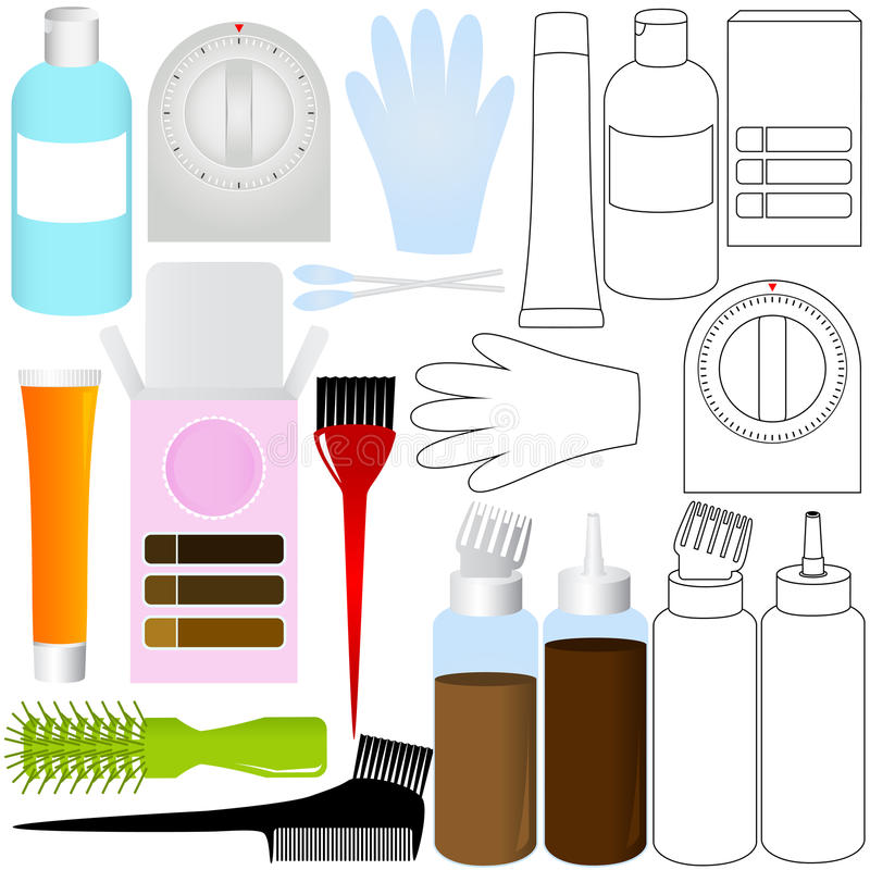 Download Hair Coloring Kit Products Stock Images - Image: 22326364