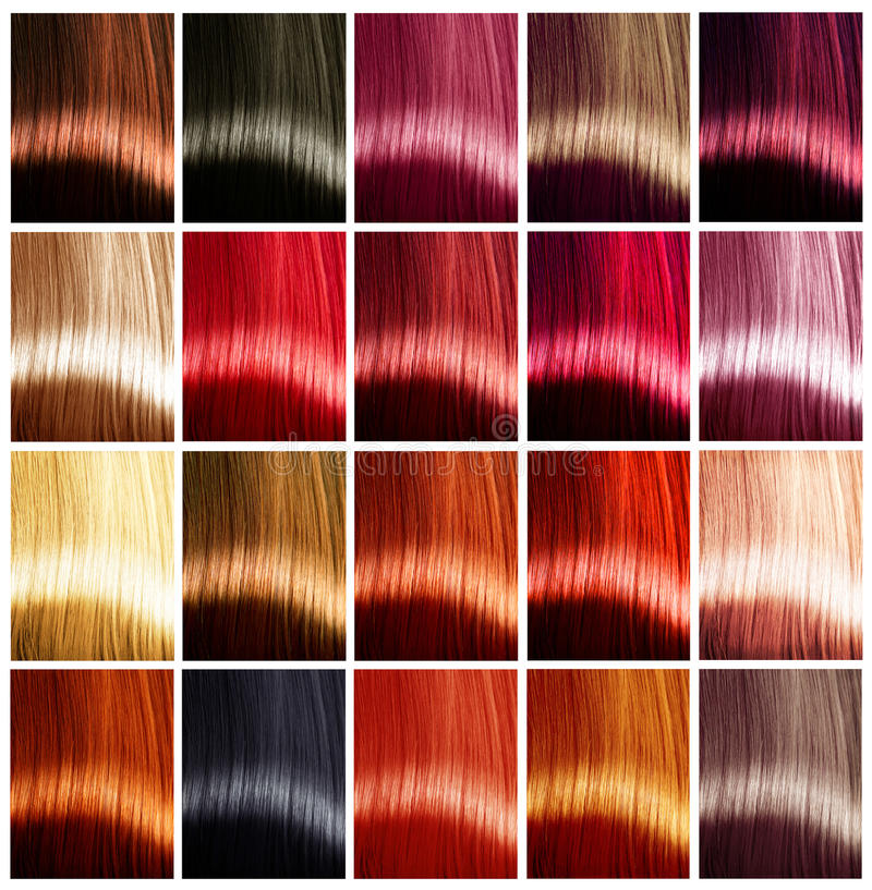Hair colors palette. Tints royalty free stock photo