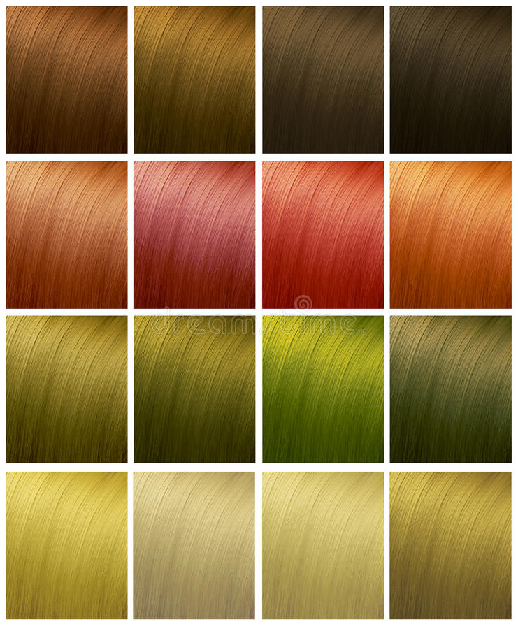 Hair colors stock images