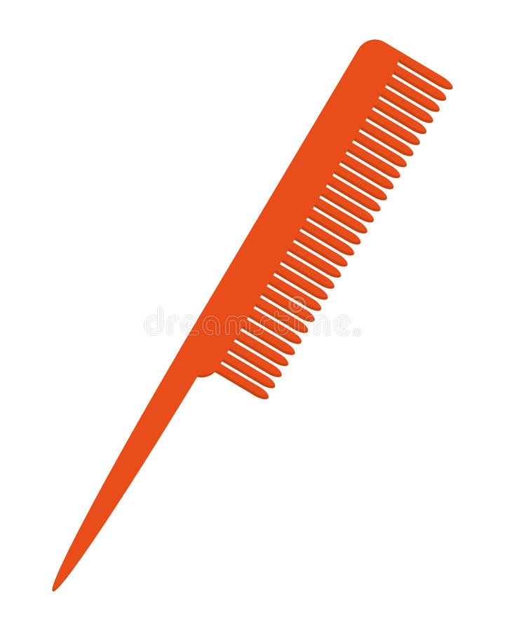 Hair comb icon. Simple flat design hair comb icon illustration royalty free illustration