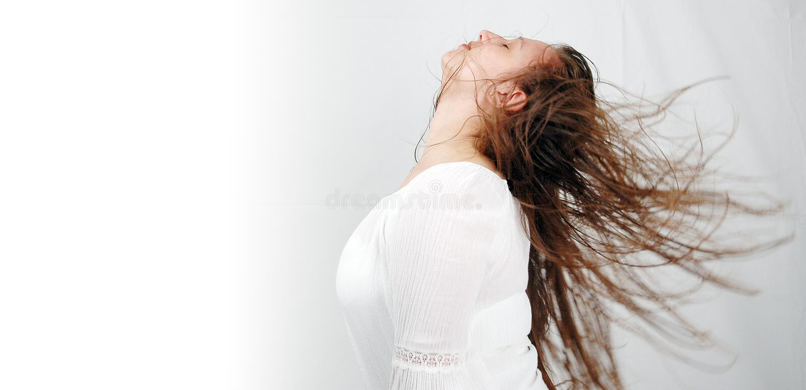 Hair dance-2 royalty free stock image