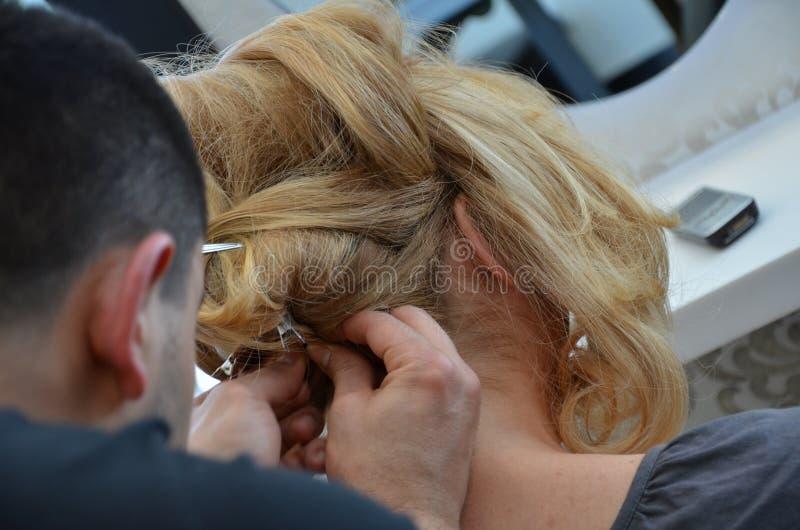 Hair dressing stock image