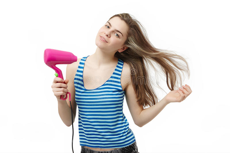 Download Hair dryer stock image. Image of warm, white, pretty - 18146053