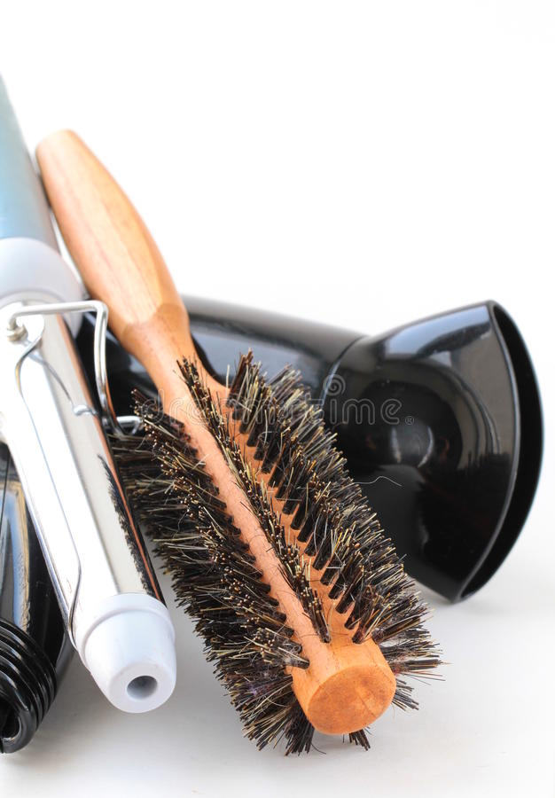 Download Hair dryer and brush stock image. Image of curler, care - 23685617