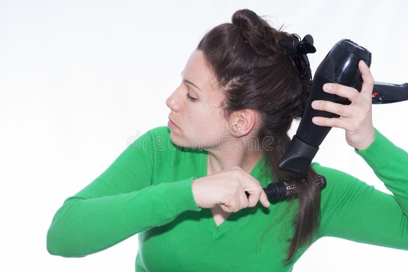 Hair dryer. royalty free stock photos